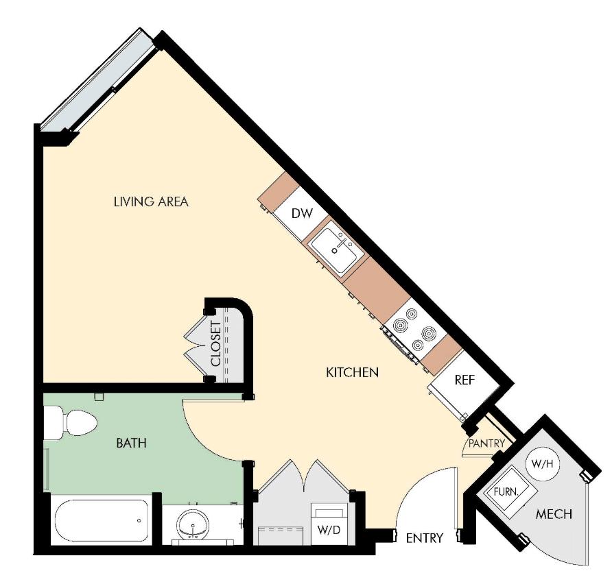 Studio 1 Bathroom Apartment for rent at Liberty Blvd Apartments in Salt Lake City, UT