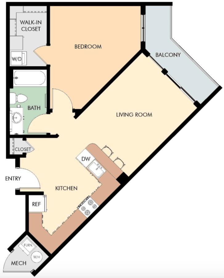 1 Bedroom 1 Bathroom Apartment for rent at Liberty Blvd Apartments in Salt Lake City, UT