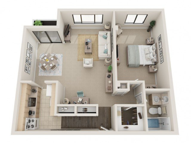 1 Bedroom 1 Bathroom Apartment for rent at Fontainebleau in St Louis, MO