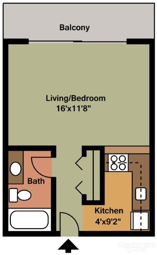 Studio 1 Bathroom Apartment for rent at Park Capitol Apartments in Salt Lake City, UT