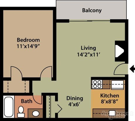 1 Bedroom 1 Bathroom Apartment for rent at Park Capitol Apartments in Salt Lake City, UT