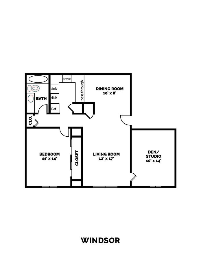 1 Bedroom 1 Bathroom Apartment for rent at Castle Point Apartments in South Bend, IN