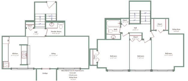 3 Bedrooms 2 Bathrooms Apartment for rent at Woodland Court in Milwaukee, WI