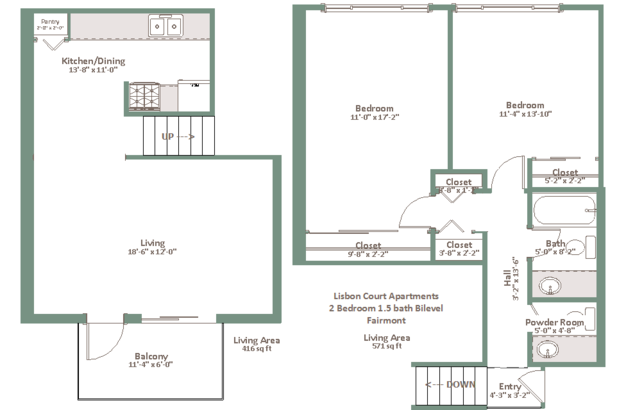 2 Bedrooms 1 Bathroom Apartment for rent at Lisbon Court in Milwaukee, WI