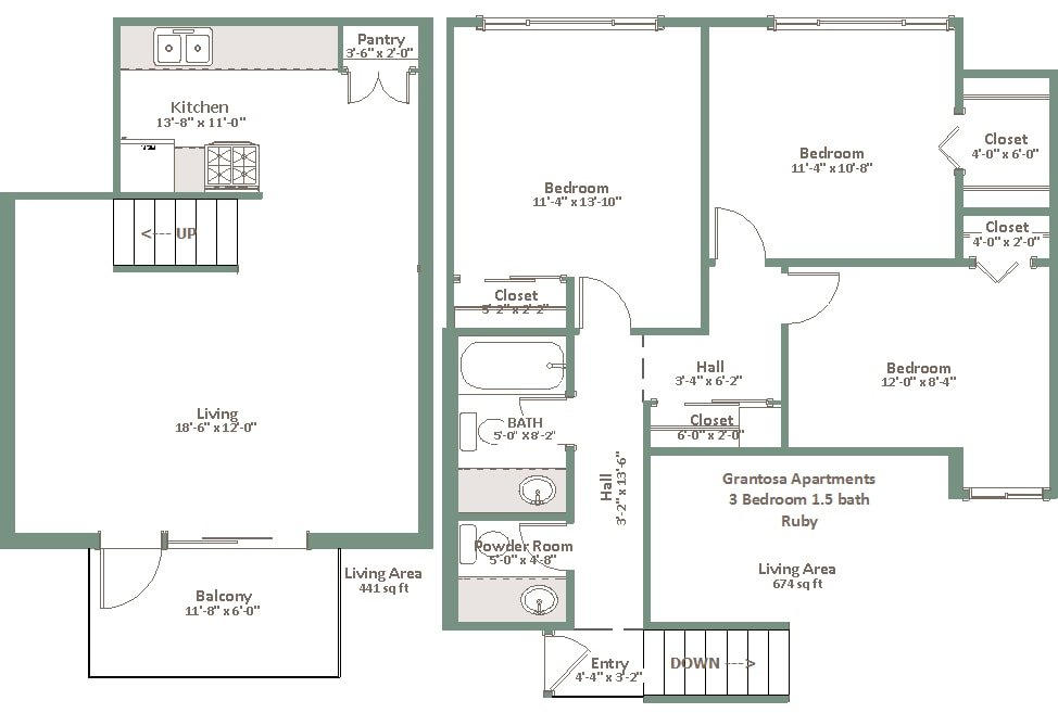 3 Bedrooms 1 Bathroom Apartment for rent at Grantosa in Milwaukee, WI