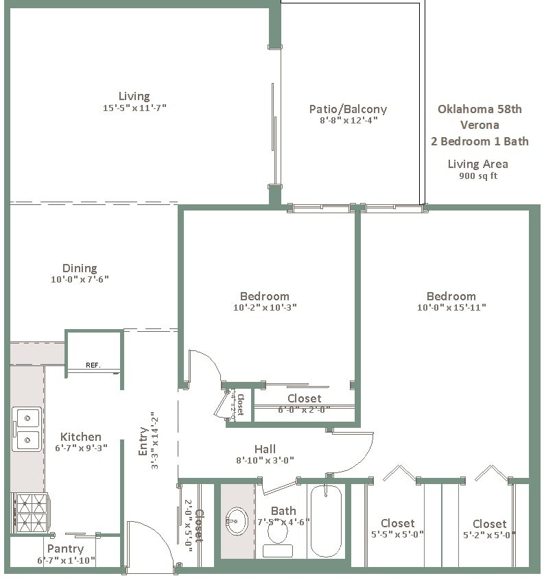 2 Bedrooms 1 Bathroom Apartment for rent at Oklahoma Manor in Milwaukee, WI
