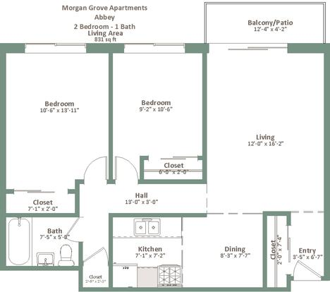2 Bedrooms 1 Bathroom Apartment for rent at Morgan Grove in West Allis, WI