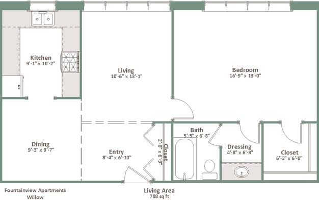 1 Bedroom 1 Bathroom Apartment for rent at Fountainview in Shorewood, WI