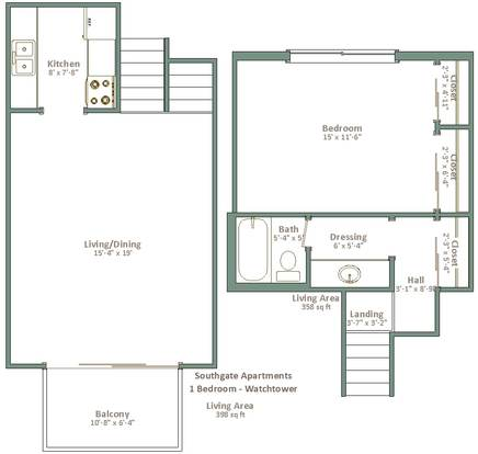 1 Bedroom 1 Bathroom Apartment for rent at Southgate Apartments in Milwaukee, WI