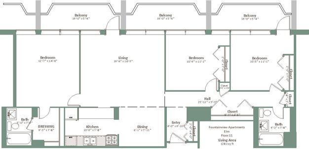 3 Bedrooms 2 Bathrooms Apartment for rent at Fountainview in Shorewood, WI