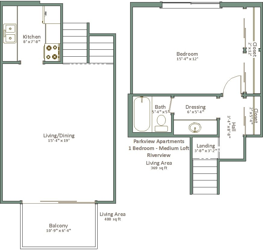 1 Bedroom 1 Bathroom Apartment for rent at Parkview Apartments in Milwaukee, WI
