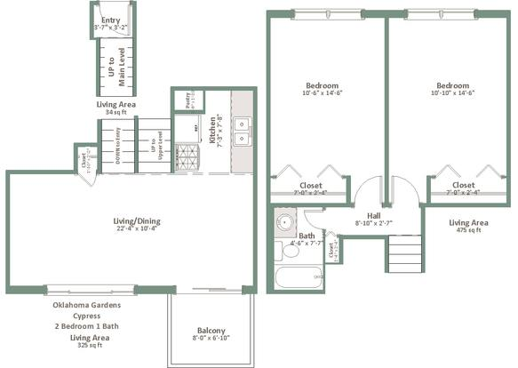 2 Bedrooms 1 Bathroom Apartment for rent at Oklahoma Gardens in Milwaukee, WI
