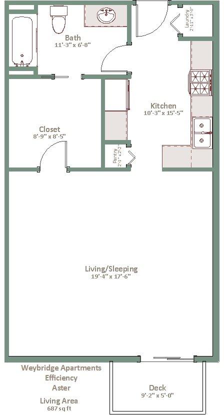 Studio 1 Bathroom Apartment for rent at Weybridge in Sun Prairie, WI