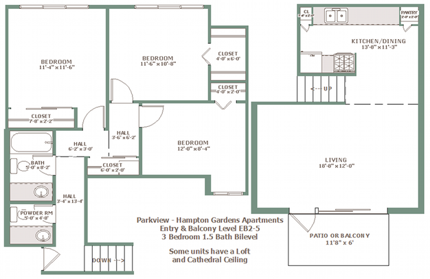 3 Bedrooms 2 Bathrooms Apartment for rent at Hampton Gardens in Milwaukee, WI