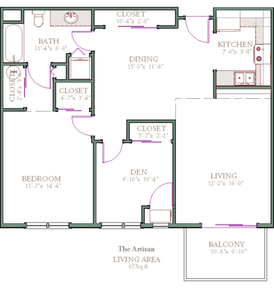 1 Bedroom 1 Bathroom Apartment for rent at The Franklin in Milwaukee, WI