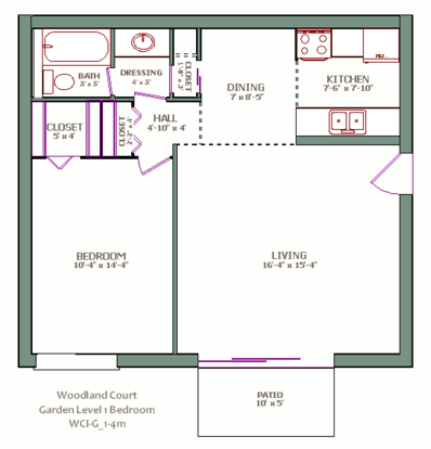 1 Bedroom 1 Bathroom Apartment for rent at Woodland Court in Milwaukee, WI