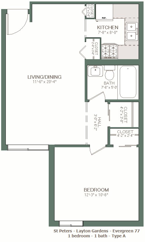 1 Bedroom 1 Bathroom Apartment for rent at Layton Gardens in Milwaukee, WI
