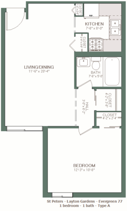 1 Bedroom 1 Bathroom Apartment for rent at St. Peter in Milwaukee, WI