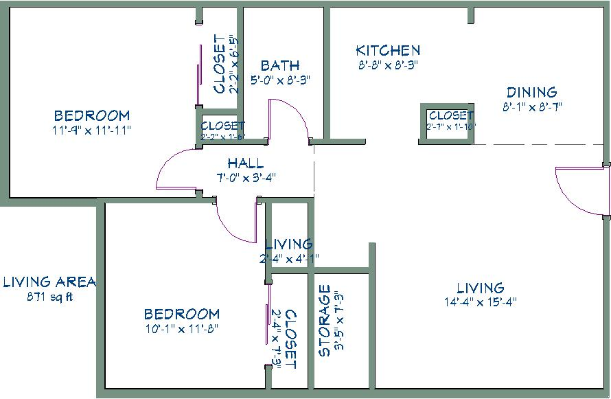 2 Bedrooms 1 Bathroom Apartment for rent at Washington Square in Cudahy, WI
