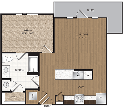 1 Bedroom 1 Bathroom Apartment for rent at Haskell Flats in Dallas, TX