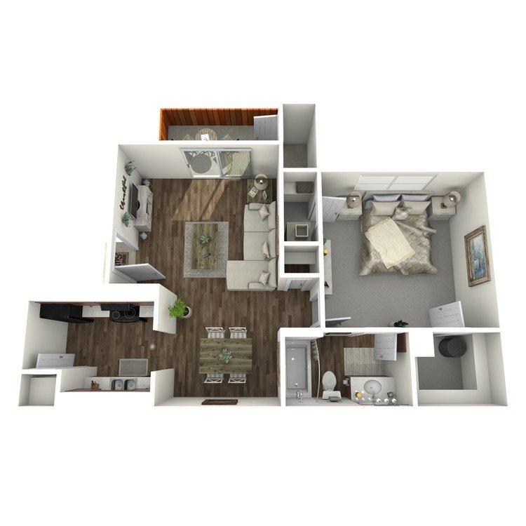 1 Bedroom 1 Bathroom Apartment for rent at Westridge in Texarkana, TX