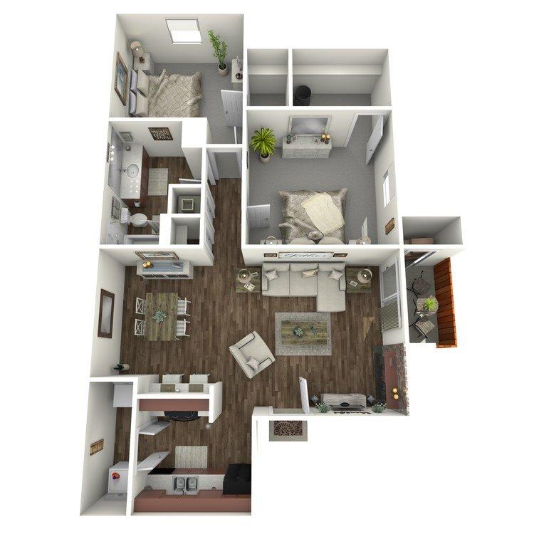 2 Bedrooms 1 Bathroom Apartment for rent at Westridge in Texarkana, TX