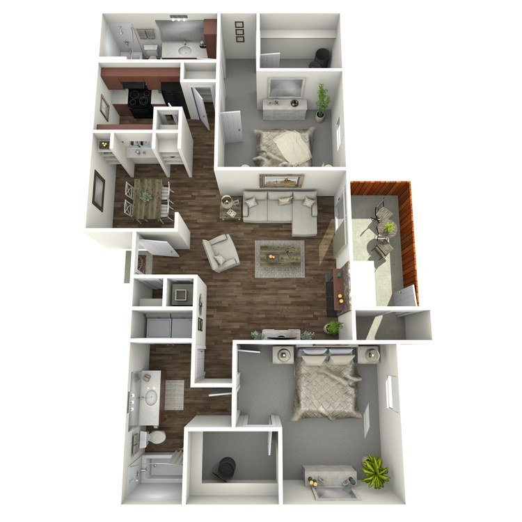 2 Bedrooms 2 Bathrooms Apartment for rent at Westridge in Texarkana, TX