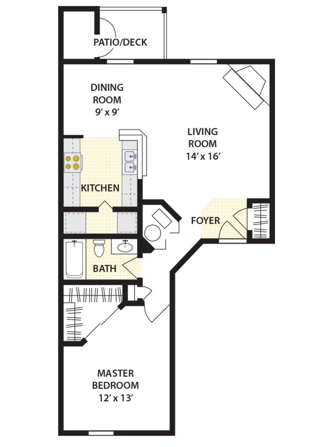 1 Bedroom 1 Bathroom Apartment for rent at Brookstone Village in Cincinnati, OH