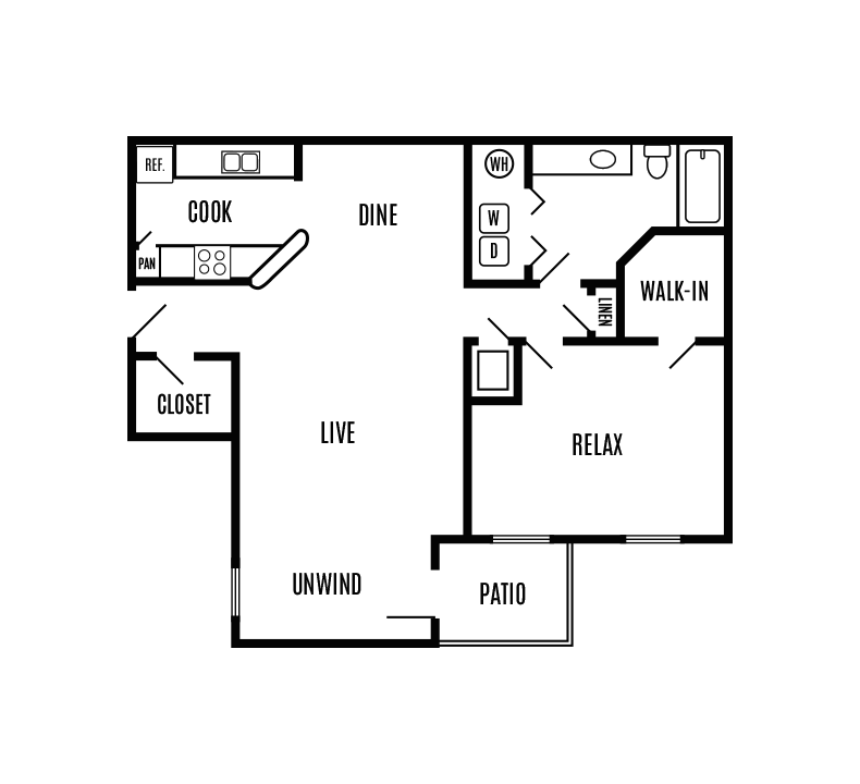 1 Bedroom 1 Bathroom Apartment for rent at Autumn Ridge in Roswell, GA