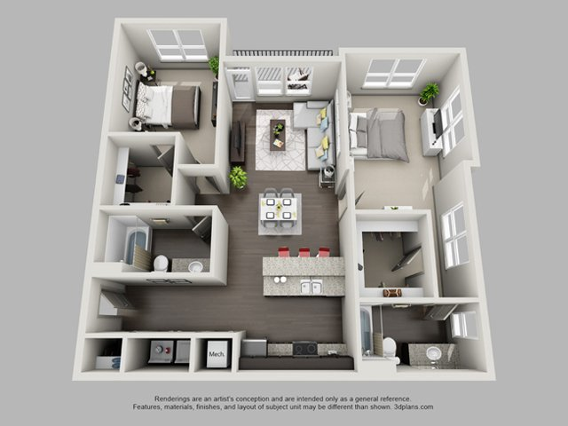 2 Bedrooms 2 Bathrooms Apartment for rent at Heritage At Oakley Square in Cincinnati, OH