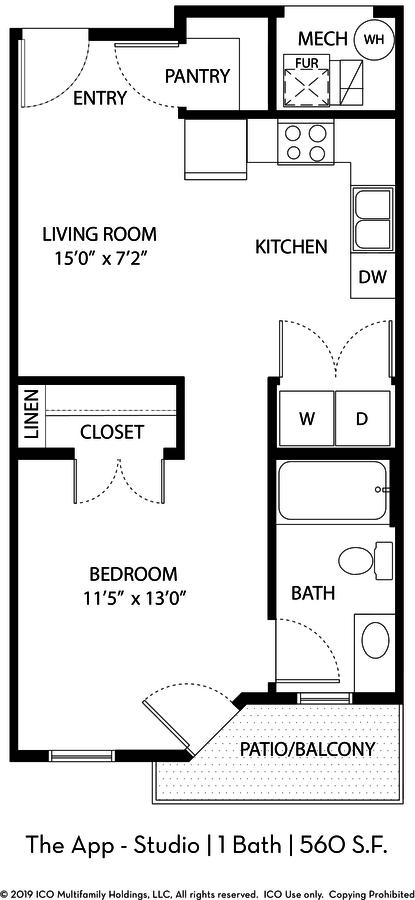 1 Bedroom 1 Bathroom Apartment for rent at Ico Vista Station in Draper, UT