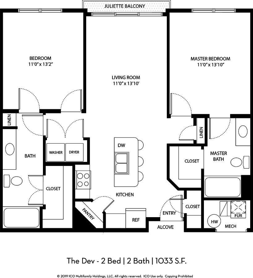2 Bedrooms 2 Bathrooms Apartment for rent at Ico Vista Station in Draper, UT