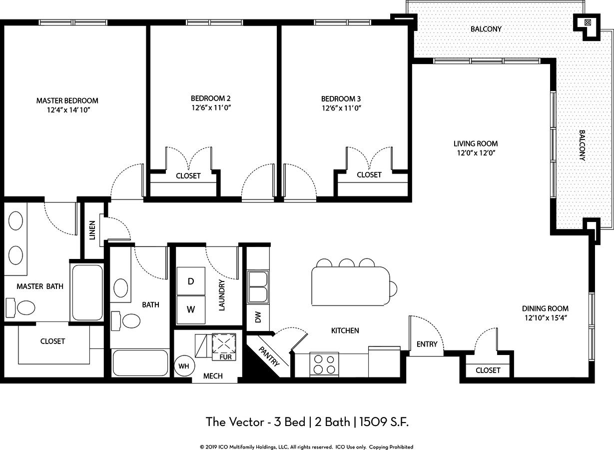 3 Bedrooms 2 Bathrooms Apartment for rent at Ico Vista Station in Draper, UT