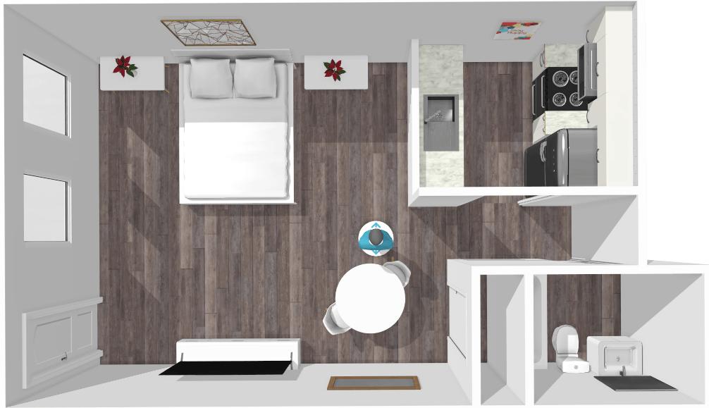 Studio 1 Bathroom Apartment for rent at Lamar Place Apartments in Austin, TX