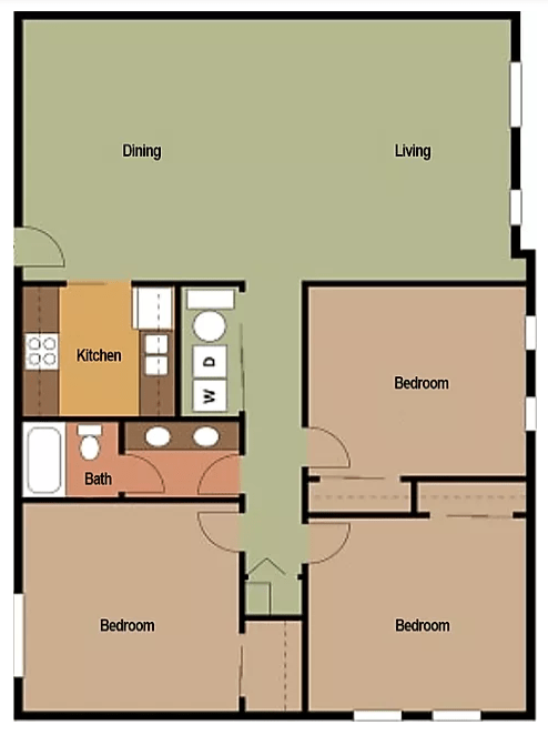 3 Bedrooms 1 Bathroom Apartment for rent at Big Red Apartments in Bloomington, IN