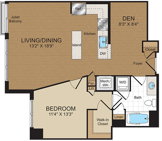 1 Bedroom 1 Bathroom Apartment for rent at Harrison At Reston Town Center in Reston, VA
