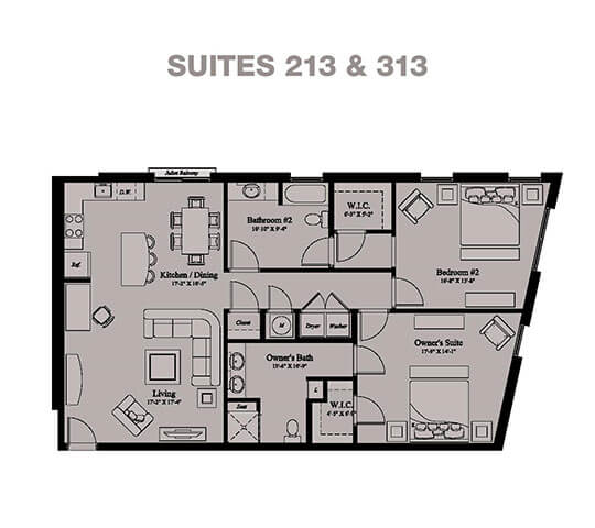 2 Bedrooms 2 Bathrooms Apartment for rent at Village Center Apartments At Wormans Mill* in Frederick, MD