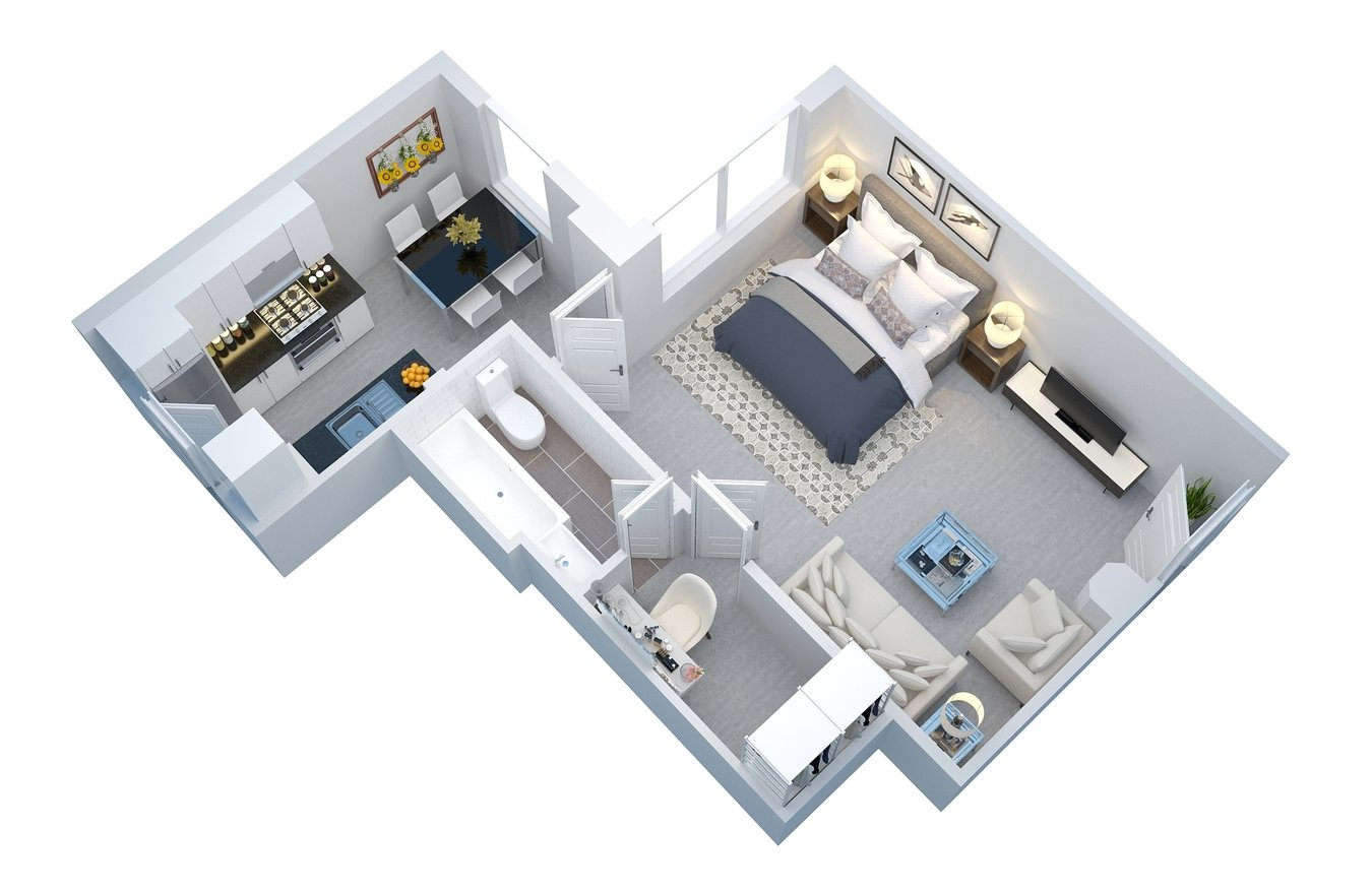 Studio 1 Bathroom Apartment for rent at 5217-25 Hollywood Boulevard in Los Angeles, CA