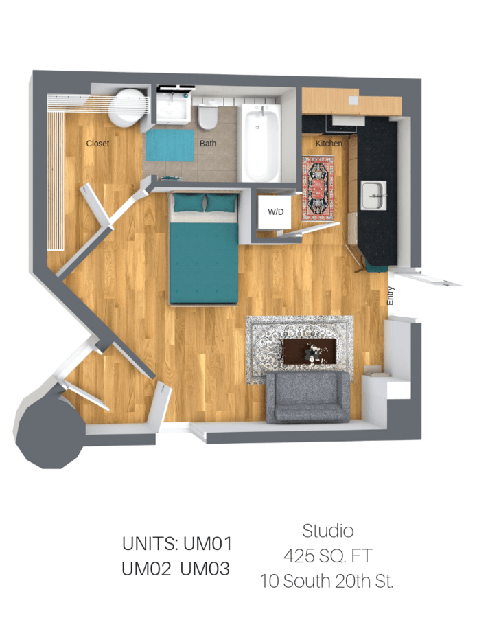 Studio 1 Bathroom Apartment for rent at Lofts And Upper Lofts At Canal Walk in Richmond, VA