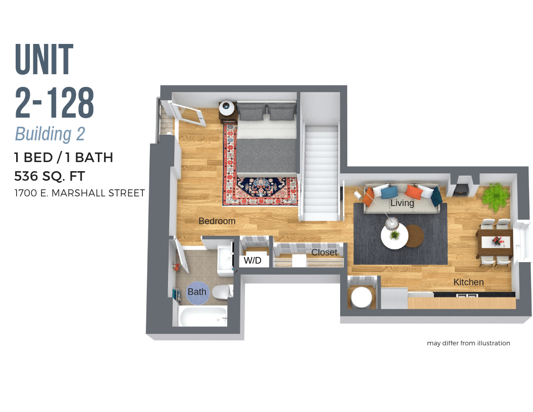 2 Bedrooms 2 Bathrooms Apartment for rent at Atrium Lofts At Cold Storage in Richmond, VA