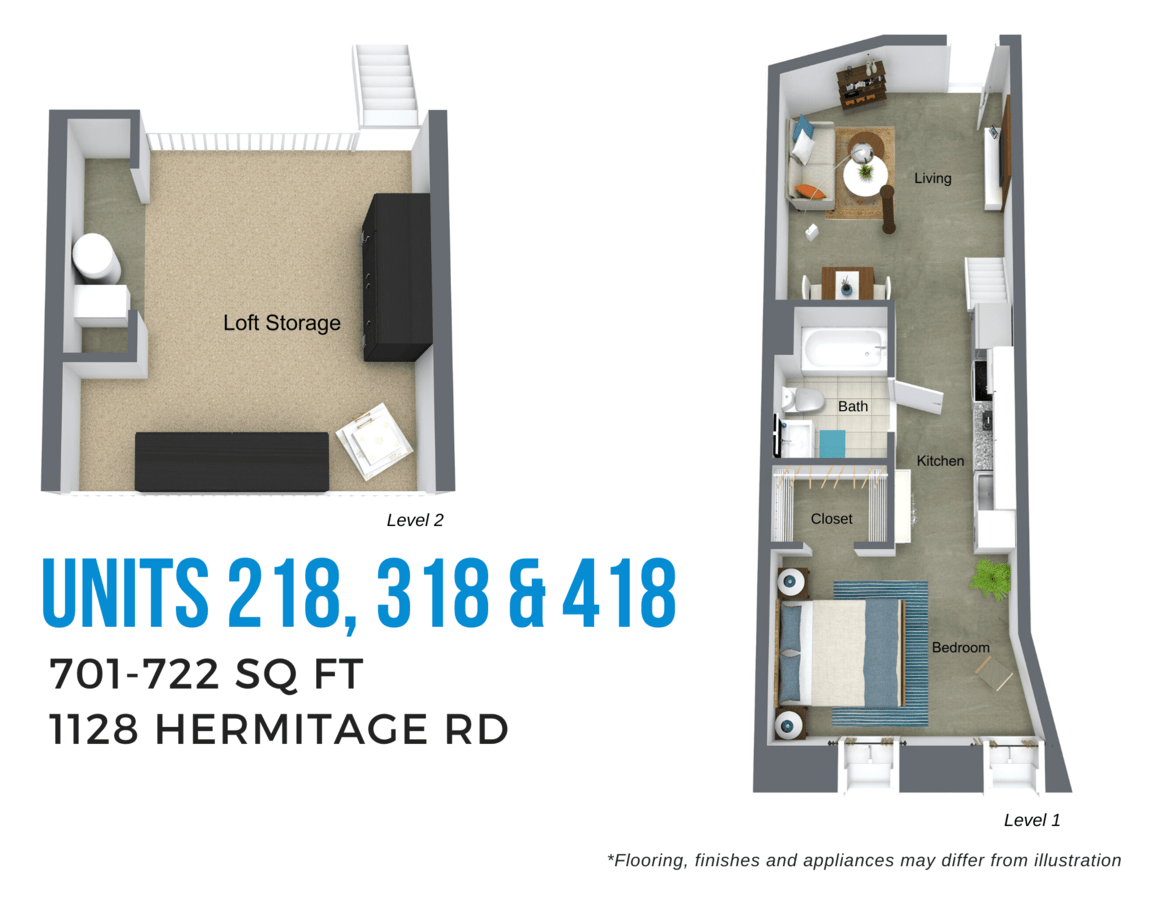 Studio 1 Bathroom Apartment for rent at Todd Lofts in Richmond, VA
