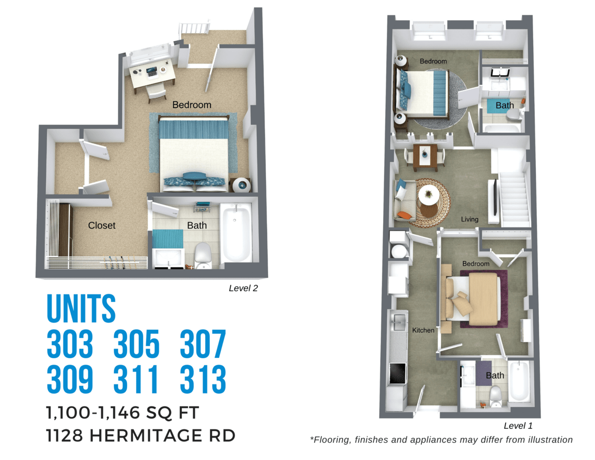 3 Bedrooms 3 Bathrooms Apartment for rent at Todd Lofts in Richmond, VA