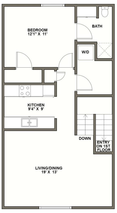 1 Bedroom 1 Bathroom Apartment for rent at Reserve At Summerset in Pittsburgh, PA