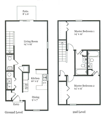 2 Bedrooms 3 Bathrooms Apartment for rent at Summerhouse At Indiana in Bloomington, IN