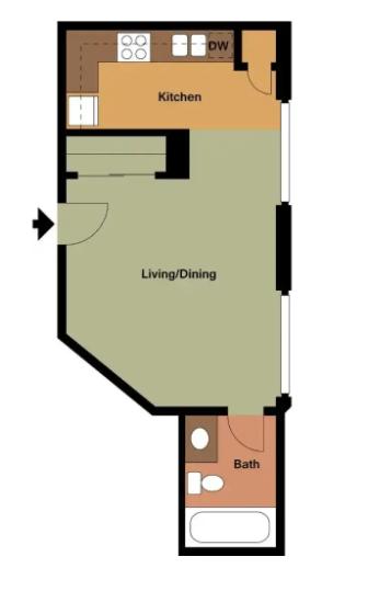 Studio 1 Bathroom Apartment for rent at Huntington Apartments in Boston, MA