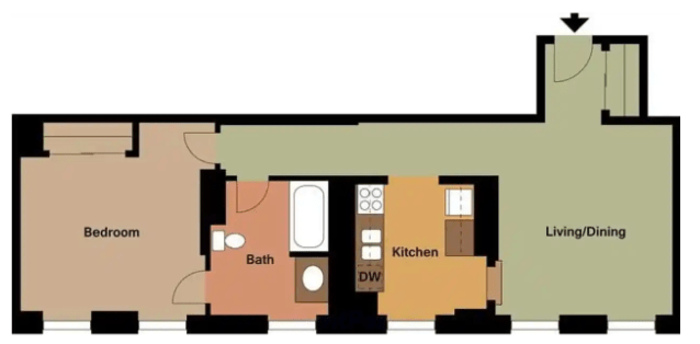 1 Bedroom 1 Bathroom Apartment for rent at Huntington Apartments in Boston, MA
