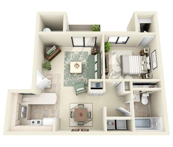 1 Bedroom 1 Bathroom Apartment for rent at Ridgegate Apartments in Phoenix, AZ