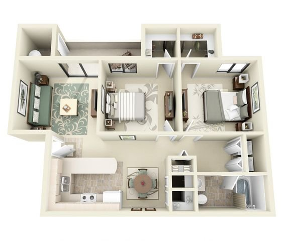 2 Bedrooms 1 Bathroom Apartment for rent at Ridgegate Apartments in Phoenix, AZ