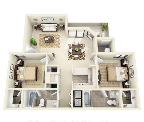 2 Bedrooms 2 Bathrooms Apartment for rent at Ridgegate Apartments in Phoenix, AZ