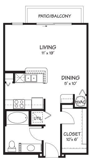 Studio 1 Bathroom Apartment for rent at The Reserve On Cave Creek in Phoenix, AZ